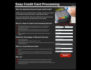 Screen shot www.easycreditcardprocessing.org
